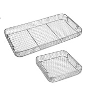Crimped Wire Mesh Baskets with Tilt Handles