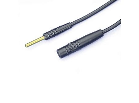 Low-noise cable for Microelectrode Holder, A : pin,  B : jack