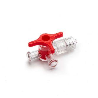 4-Way Stopcock - Luer Lock, red