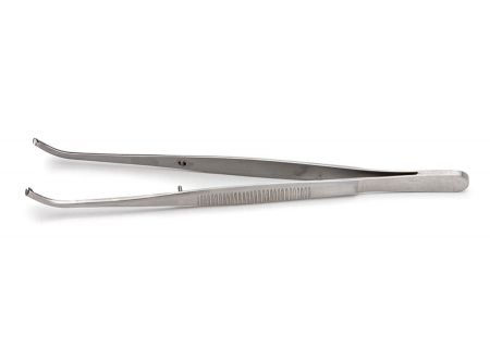 Tissue Forceps,12.5cm long, Curved, 1x2 Teeth