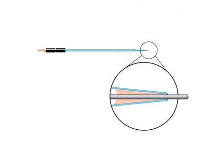 Carbon Fiber Electrode, Dia 10 um,Length 250 um