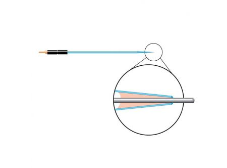 Carbon Fiber Electrode, Dia 10 um, Length 100 um