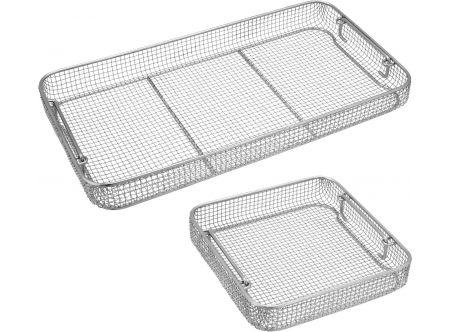 Crimped Wire Mesh Sterilization Baskets, Tilted Handles
