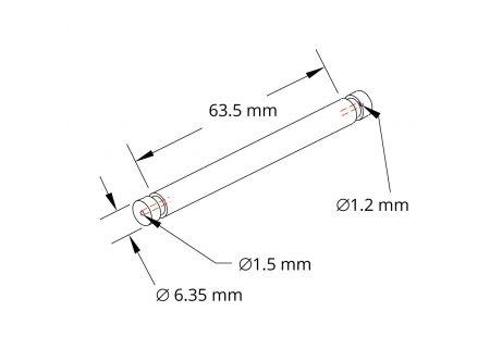 Microelectrode Holder, straight, Fiber Optic Connector