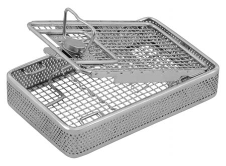 Sterilization Instrument Cassettes with Spring Holding Lids