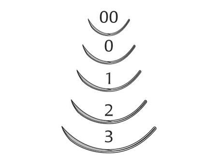 Eye Needles, Cutting Edge, 5/16 Circle, Size 0, 13mm