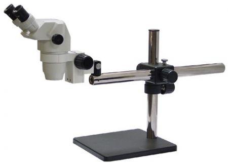 Precision Stereo Zoom Trinocular Microscope (III) on Boom Stand