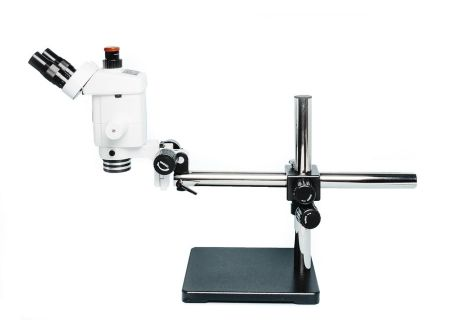 Precision Stereo Zoom Trinocular Microscope (IV) on Boom Stand