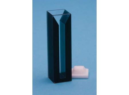 Semi-micro, self-masking Quartz Cuvette, 10mm path, Style D, V=0.35mL