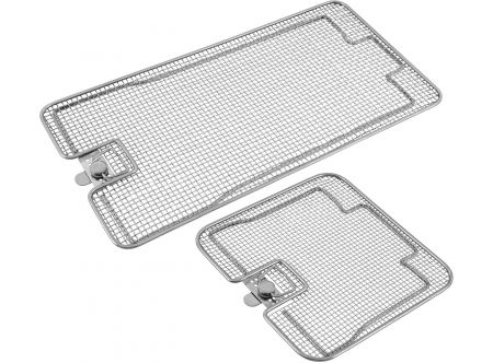 Lids for Perforated Sterilization Baskets with Flat Base, Double Frame
