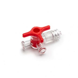 4-Way Stopcock - Luer Lock, red