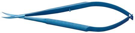 Castroviejo Curved Scissors, 12cm, 16mm Blunt Tips, Titanium