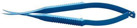 Vannas Capsulatomy Scissors, 9.5cm (3.75), Curved Sharp Tips, Non-Magnetic, Titanium, WPI Premium
