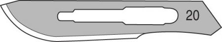 Surgical Scalpel Blades #20, pkg of 100, Non-sterile