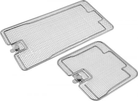 Lids for Crimped Wire Mesh Sterilization Baskets, Double Frame