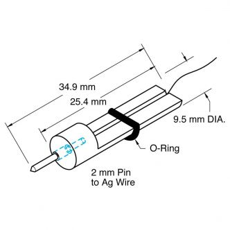 Microelectrode Holder, Straight, Male Connector