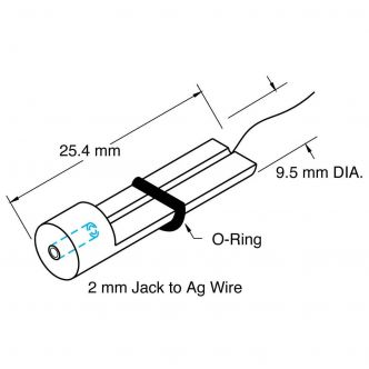 Microelectrode Holder, straight, Female Connector