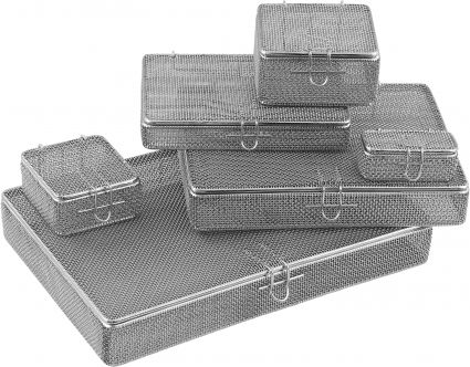 Fine Mesh Baskets with Lids