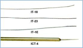 Flexible Implantable Probe, 0.025 inch sensor diameter, 0.005 sec