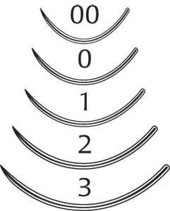 Eye Needles, Taper Point, 5/16 Circle, Size 2, 18mm