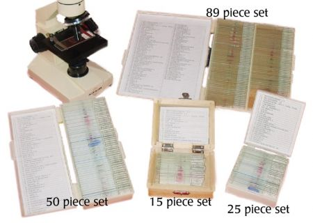 Prepared Microscope Slide Set - 89 pieces