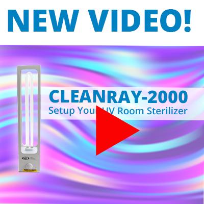 Setup WPI CleanRay-2000 Ultraviolet Room Sterilizer