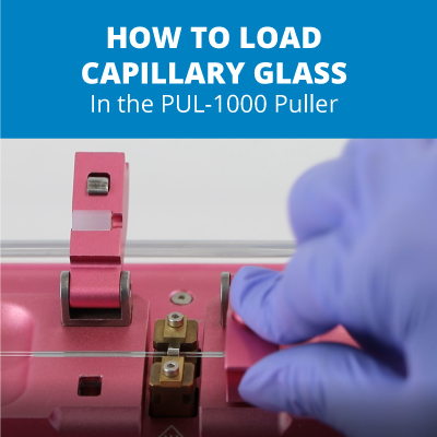 Loading capillary glass in the puller