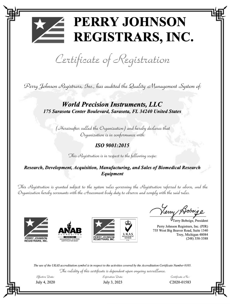 WPI ISO 9001 Final Certificate