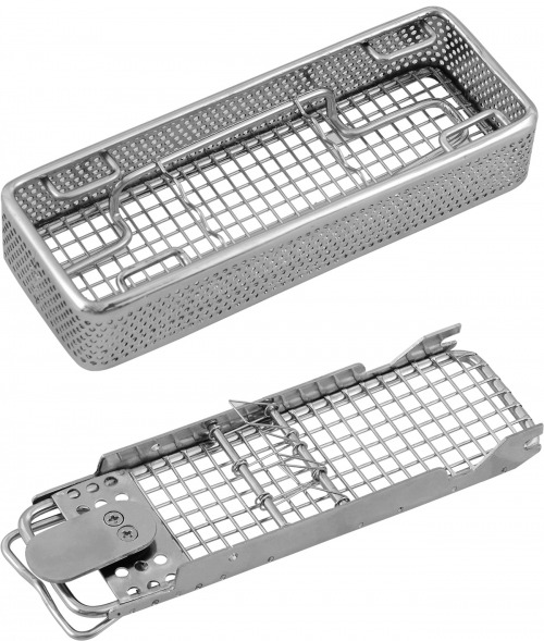 details of the side perforated basket with wire base