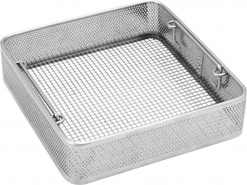 Square side perforated basket
