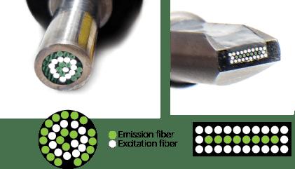 excitation and emission fibers