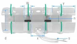 Specs for nerve cuff x-wide electrodes