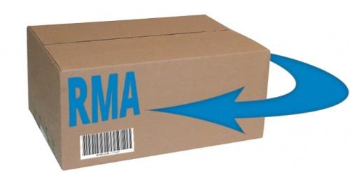 RMA box for return