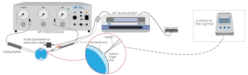 micro-epore setup