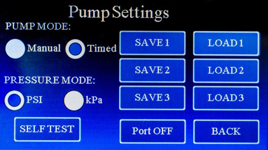 pv-850 settings screen