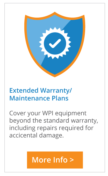 Check out the extended warranty and service options for WPI products..