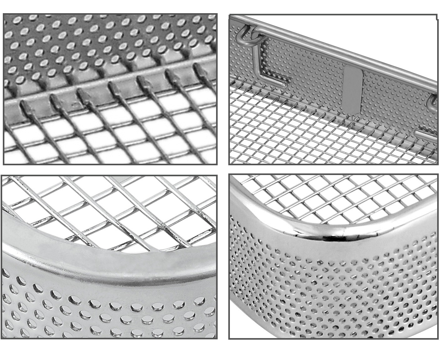 Detail images of the side perforated baskets