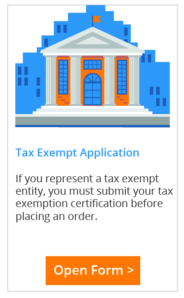 Use this form to submit your certification for tax exempt status.