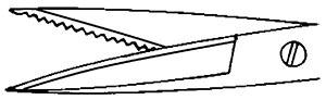 The tip profile for Iris Scissors