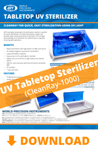 Download the UV Tabletop Sterilizer brochure