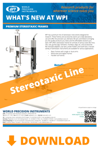 Download the brochure for New Stereotaxic Instruments